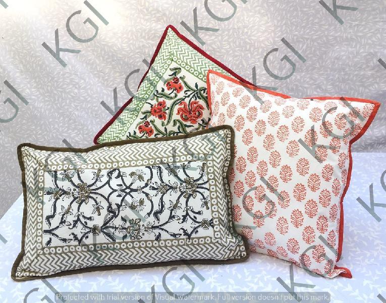 Hand Block Printed Cushion Cover 02