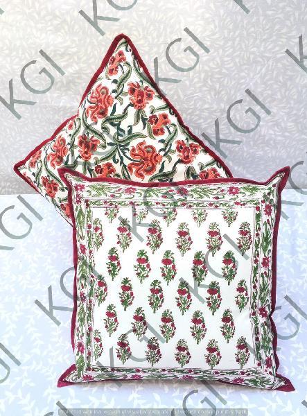 Hand Block Printed Cushion Cover 04