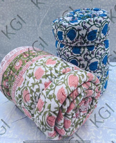 Hand Block Printed Quilt 02