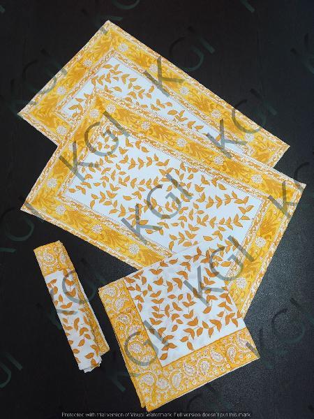 Hand Block Printed Table Mat 02