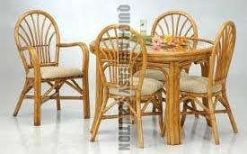 Beautiful Bamboo Dining Table Set