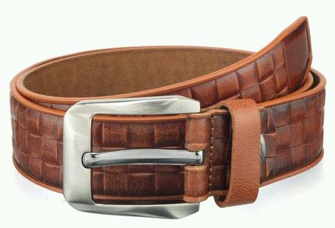 Mens Teakwood Genuine Spanish Leather Belt Sku Tkd Blt 76