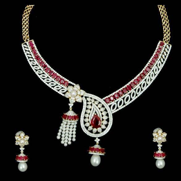 Diamond Necklace Set 03