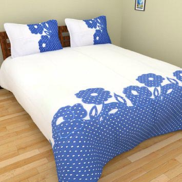 Beautiful Applique Bed Sheet