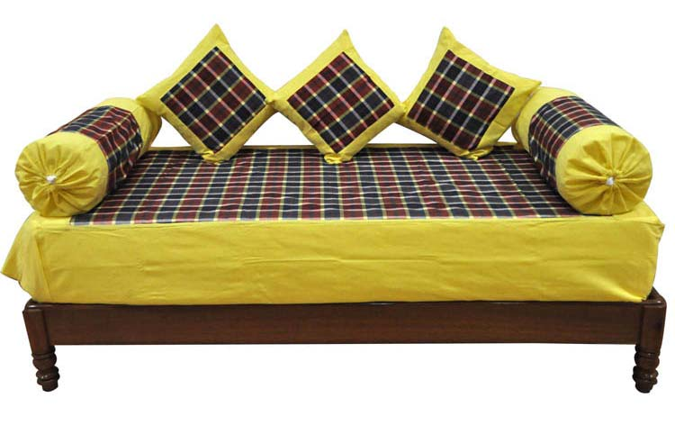 Printed diwan set printed diwan set manufacturers suppliers for Diwan bed set