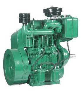 Air Cooled Double Cylinder Diesel Engine