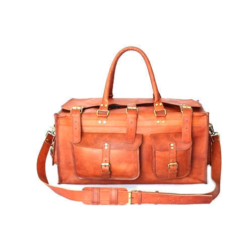 Leather Duffle Travel Bag 01