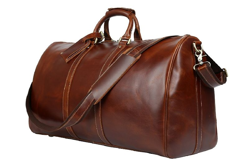 Leather Duffle Travel Bag 02