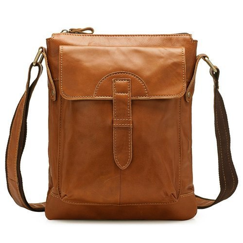 Light Brown Leather College Bags