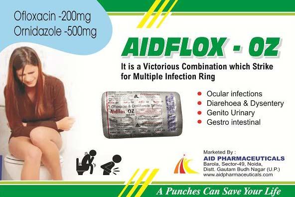 Aidflox-OZ Tablets