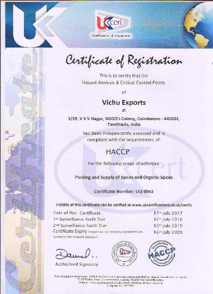 HACCP CERTIFICATION.