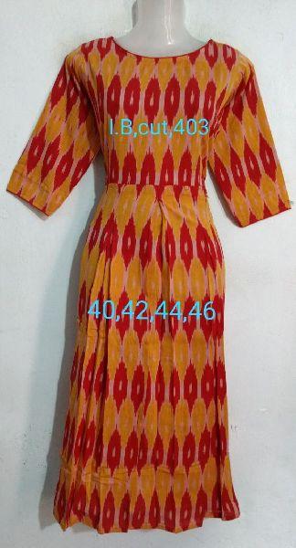 Handmade Ikkat Cotton Box Cut Kurti 02