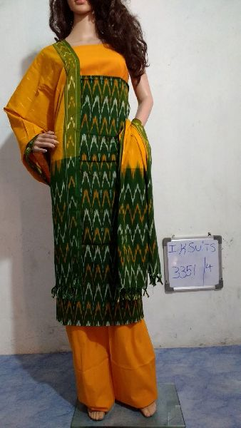 Handmade Ikkat Dress Materials 01