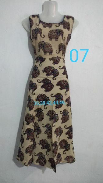 Handmade Kalamkari Cotton Umbrella Cut Kurti 03