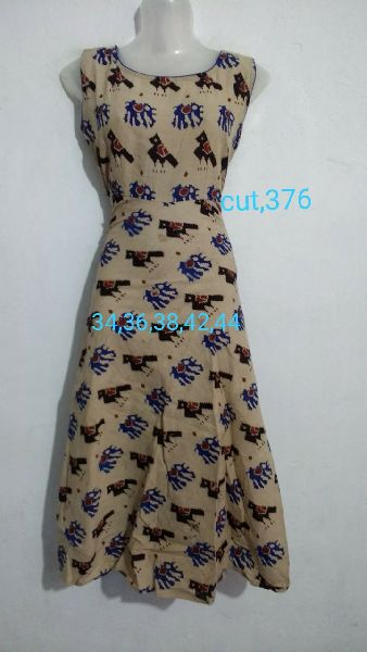 Handmade Kalamkari Cotton Umbrella Cut Kurti 05