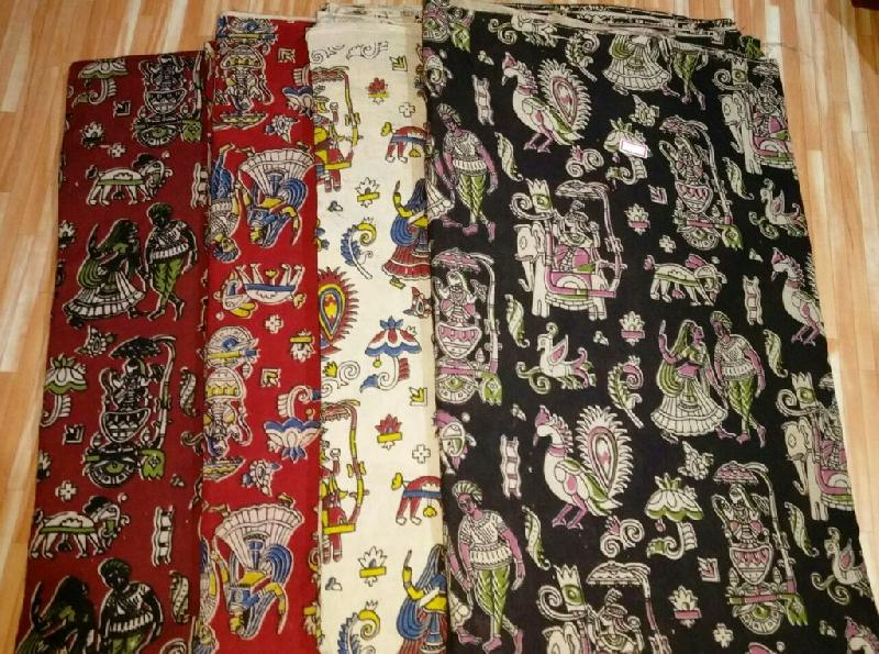 Kalamkari Cotton Fabric 01