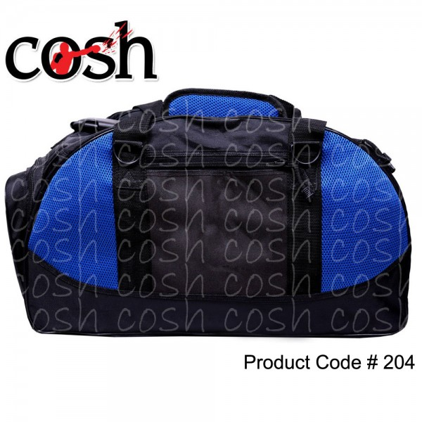 Black & Blue Gym Duffle Bag