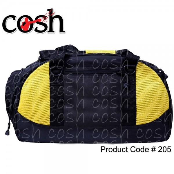 Black & Yellow Gym Duffle Bag