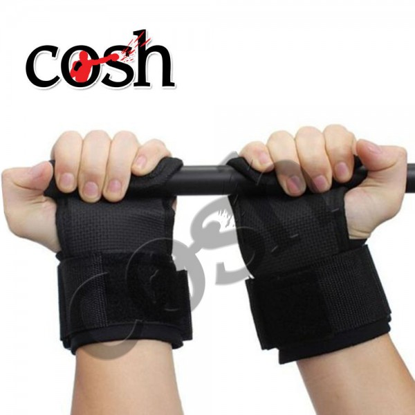 Unisex Black Weightlifting Hand Grips