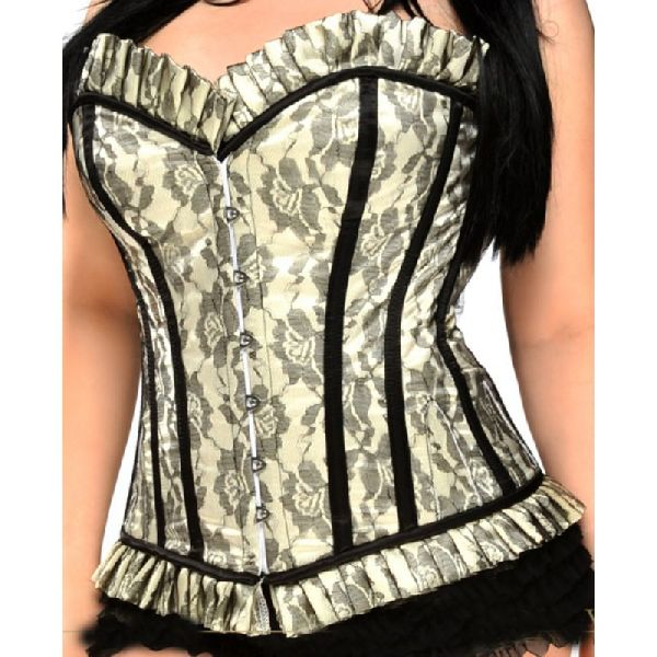 Ivory Satin Full Bust Steel Boned Corset