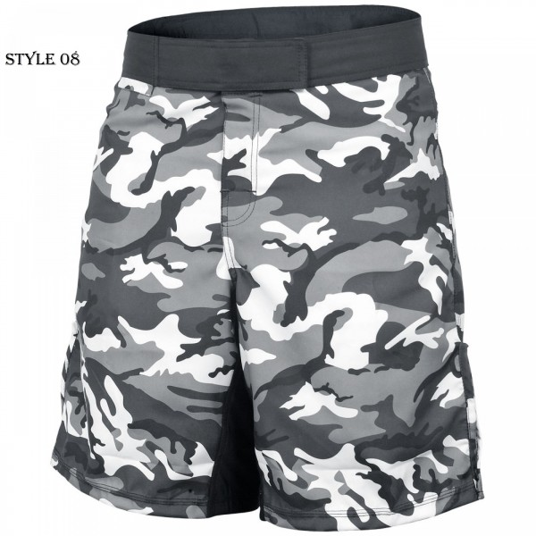 Camouflage Gray MMA Shorts