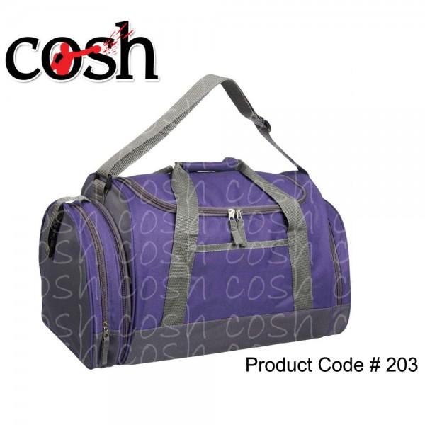 Purple Gym Duffle Bag