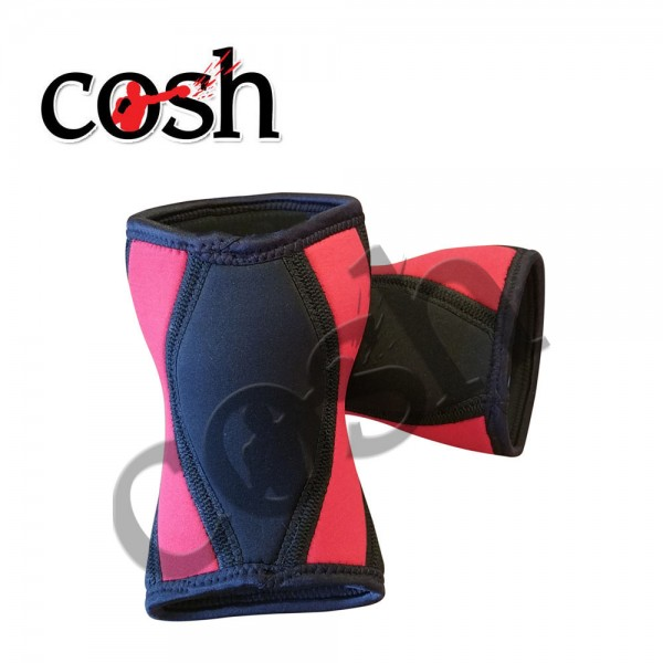 Black & Red Weightlifting Knee & Sleeve Wrap