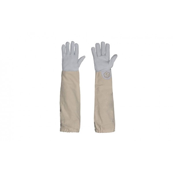 White Leather Beekeeping Gloves