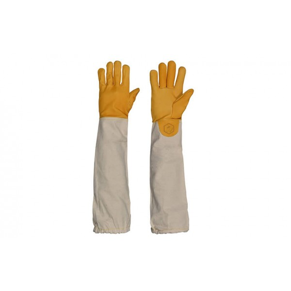 Yellow Leather Beekeeping Gloves