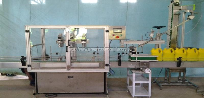 Three Head Linear Capping Machine