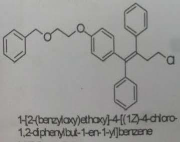 1-[2-(Benzyloxy)ethoxy]-4-[(1Z)-4-Chloro-1,2-Diphenyl But-1-en-1-Yl]benzene