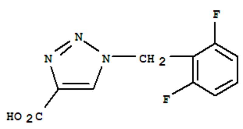 1-(2, 6-difluorobenzyl)-1H-1, 2, 3-triazole-4-carboxylic acid