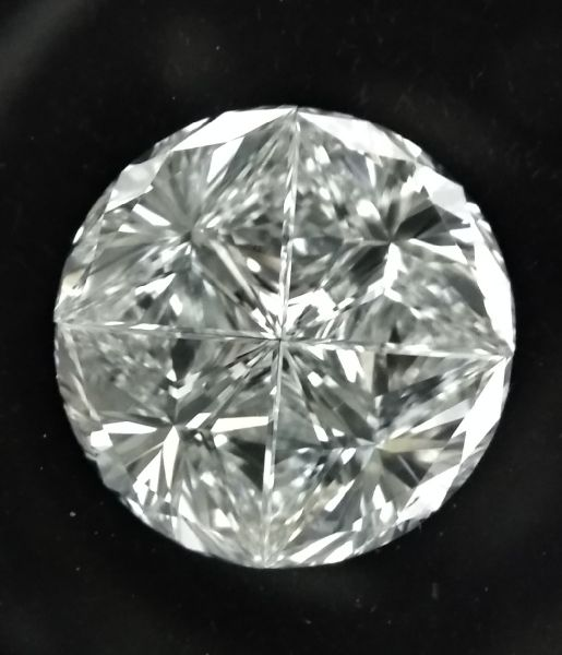 4 Pcs Round Pie Cut Diamonds