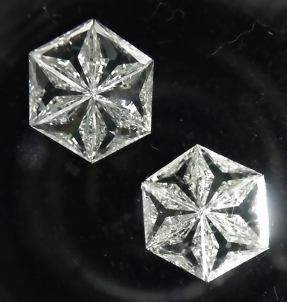 Hexagonal Pie Cut Diamond 01