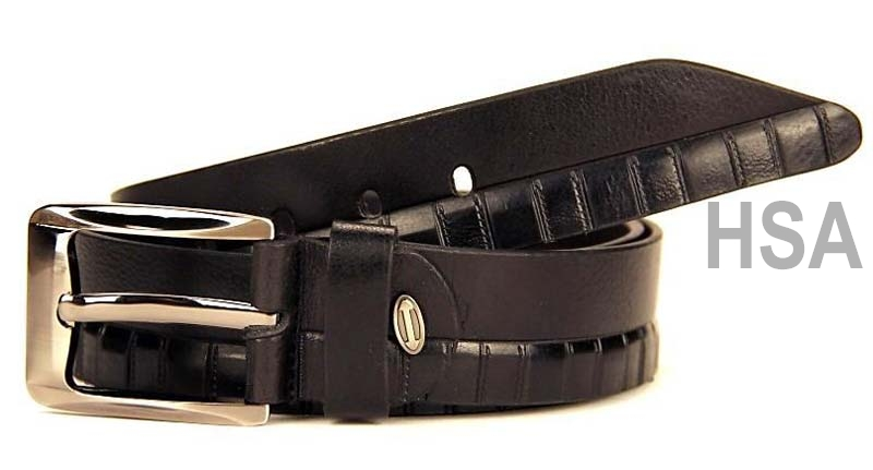 Mens Leather Belt (G58912BLK)