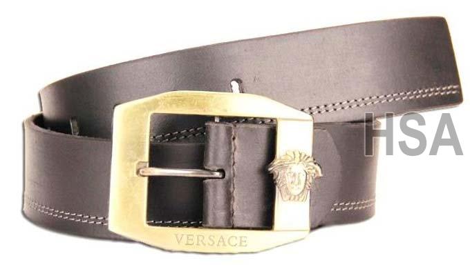Mens Leather Belt (G58926BLK)