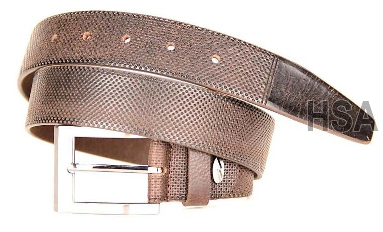 Mens Leather Belt (G58935BRN)