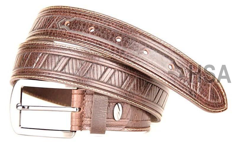 Mens Leather Belt (G58950BRN)