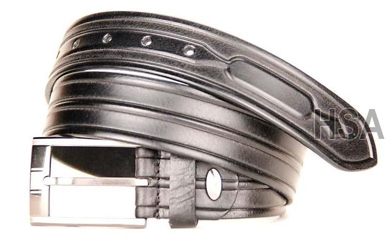 Mens Leather Belt (G58951BLK)