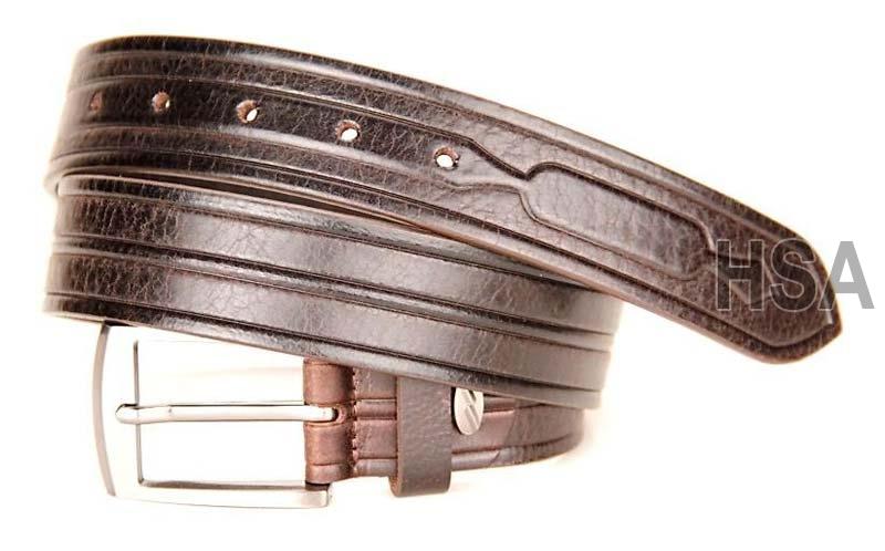 Mens Leather Belt (G58951BRN)