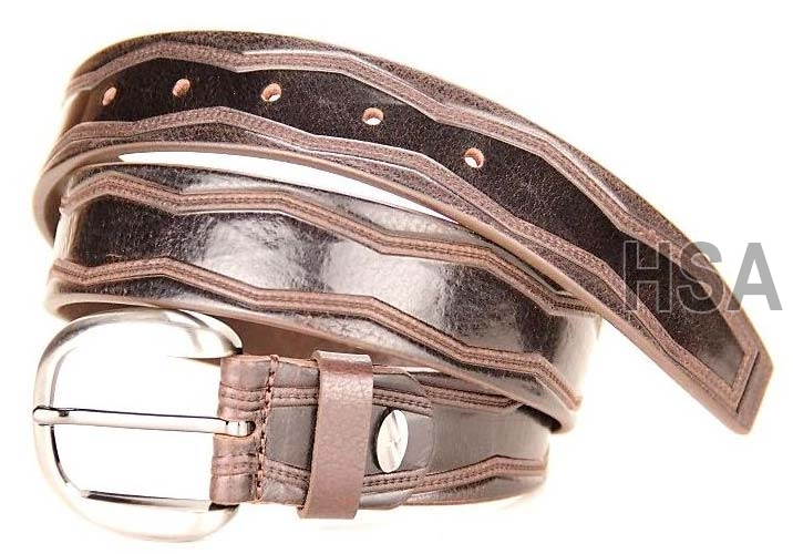 Mens Leather Belt (G58955BRN)