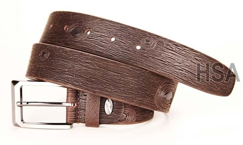 Mens Leather Belt (G58956BRN)