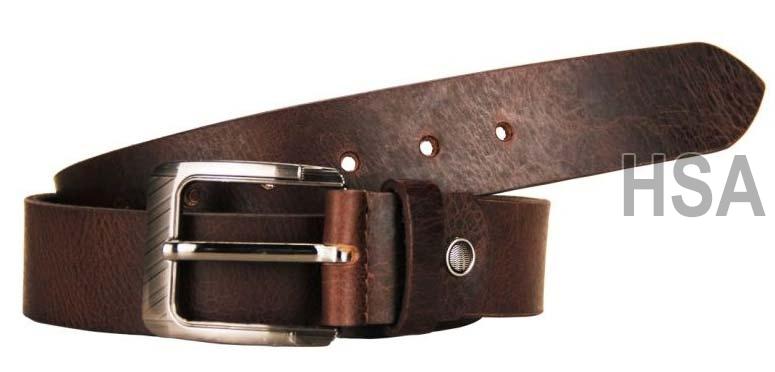 Mens Leather Belt (G58974BRN)
