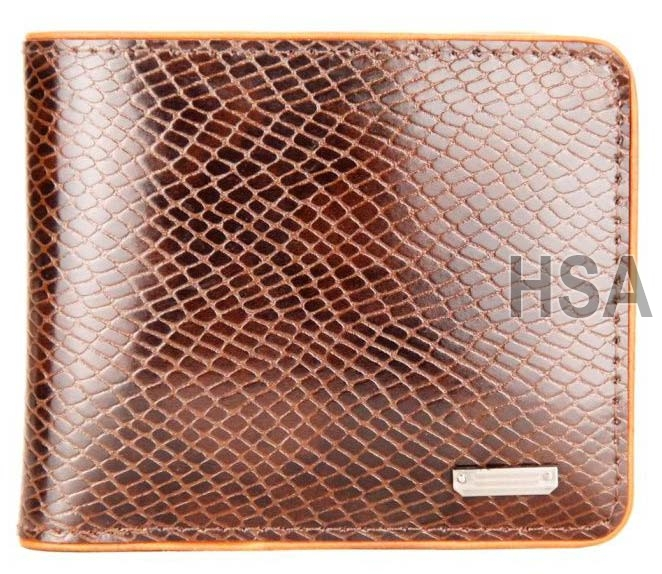 Mens Leather Wallet (F65930BRN)