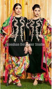 Crepe Patiala Suits
