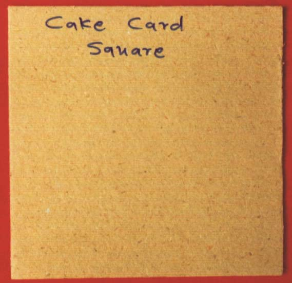 Square Cake Cards