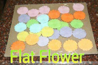 Edible Sugar Flat Flowers