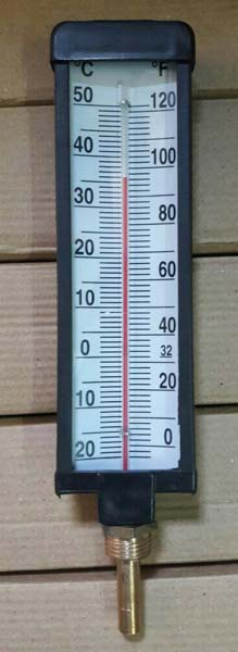 V Shape Industrial Thermometer