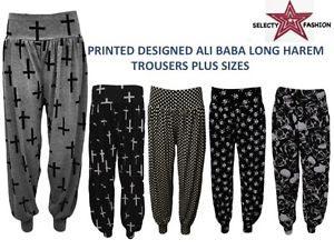 Ladies Long Harem Pants 01