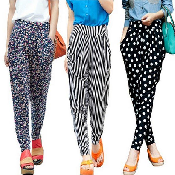 Ladies Long Harem Pants 02